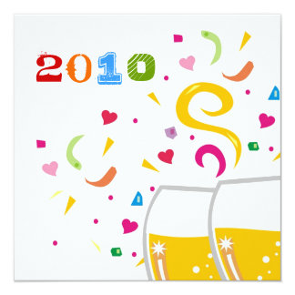 311-2010 la tostada al Año Nuevo invita Invitación 13,3 Cm X 13,3cm