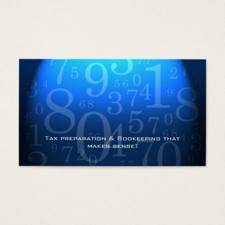 Blue Numbers Accountant Business Cards Profile Card