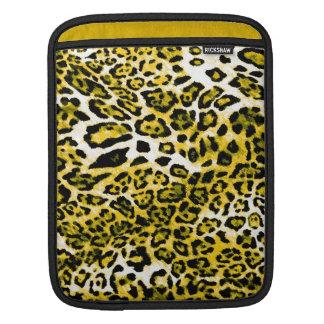 311 ajuste negro y amarillo del negro del leopardo fundas para iPads