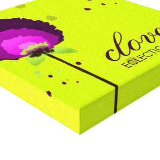 311 Alluring Allium Neon Canvas Print