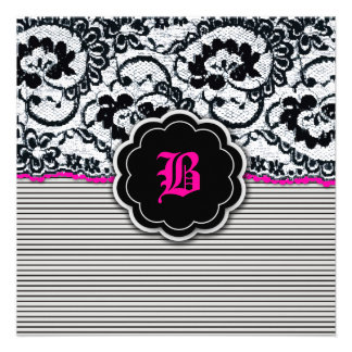 311-Alluring Lace - Hot Pink Announcements