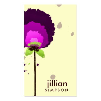 311-ALLURING PURPLE ALLIUM | CREAM Double-Sided STANDARD BUSINESS CARDS (Pack OF 100)