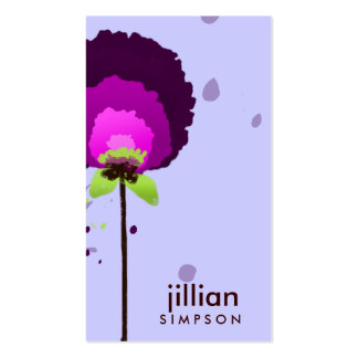 311-ALLURING PURPLE ALLIUM | LILAC Double-Sided STANDARD BUSINESS CARDS (Pack OF 100)