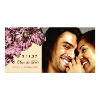 311-Aloha Hibiscus Vintage Damask | Save the Date Photo Cards