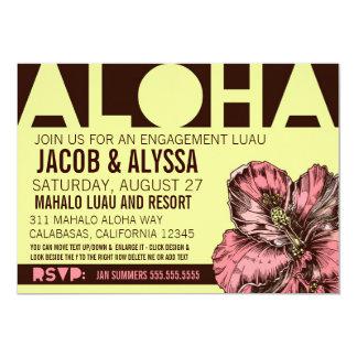 311 Aloha World Lime Pink 5x7 Paper Invitation Card