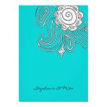 311-Ambrosia Swirl | Ocean 5x7 Paper Invitation Card