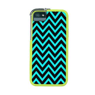 311 Aqua Black Chevron Case For iPhone SE/5/5s