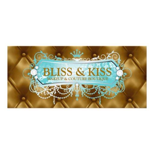 311 Aqua Bliss Golden Tuft Loyalty Card Rack Card