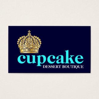 311 azules marinos de moda intrépidos de la tiara tarjetas de visita