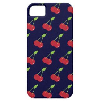 311 azules marinos del modelo de la cereza iPhone 5 protector