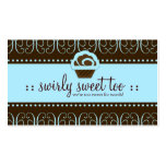 311 Baby Blue Swirly Sweet Double-Sided Standard Business Cards (Pack Of 100)