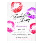 311-Bachelorette fiesta - besos coloridos Invitaciones Personalizada