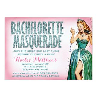 311 Bachelorette Masquerade Pin Girl Sparkle Card