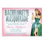 311 Bachelorette Masquerade Pin Girl Sparkle Personalized Invitation