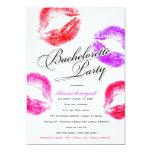 311-Bachelorette Party - Colorful Kisses 5x7 Paper Invitation Card