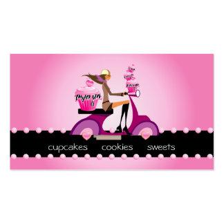 311 Bakery Business Card Zebra Cupcake Scooter