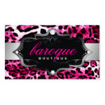 311 Baroque Boutique Hot Pink Leopard Business Card