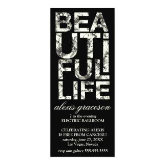 311 Beautiful Life Hibiscus Typography Card