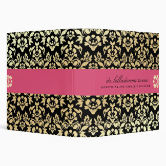 311 Belladonna Damask Pink 3 Ring Binder