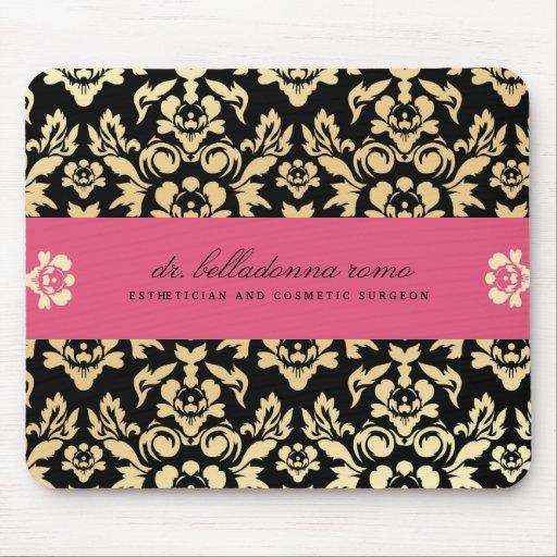 311-Belladonna Damask Pink Mousepad