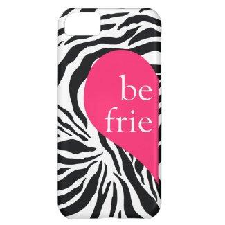311 Best Friends Heart Zebra Left Side iPhone 5C Case