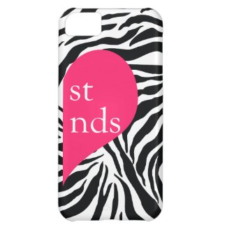 311 Best Friends Heart Zebra Right Side Case For iPhone 5C
