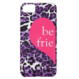 311 Best Friends Lilac Leopard Left Side iPhone 5C Covers