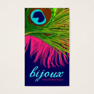 311-Bijoux Peacock | Hot Pink Business Card