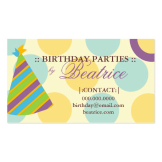 311-BIRTHDAY PARTY PLANNER PURPLE BUSINESS CARD