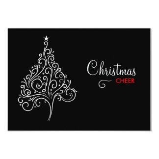 311-Black and White Christmas Invite
