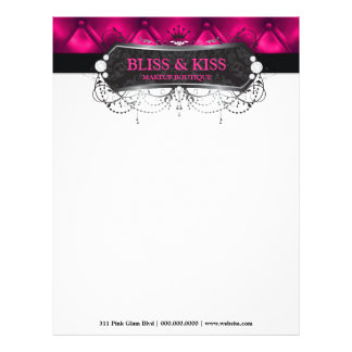 311 Black Bliss Blush Tuft Metallic Letterhead