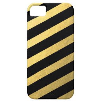 311 Black Faux Gold Striped case