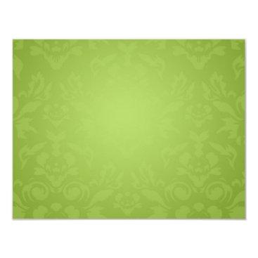 McTiffany Tiffany Aqua 311 Black Lime Flame RSVP Card