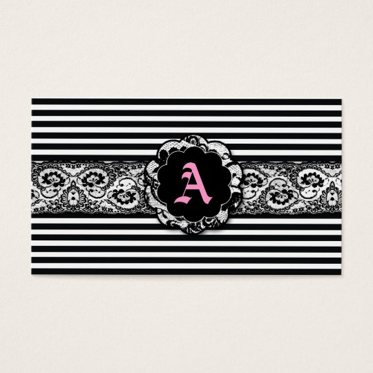 311-Black Stripes and Lace Business Card