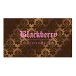 "311- Blackberry ""Pure"" Chocolate Truffle Damask Double-Sided Standard Business Cards (Pack Of 100)"