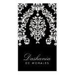 311 blanco negro de estrellazo del damasco | plantilla de tarjeta de visita