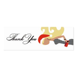 311 Blonde Santa Fashionista Thank You Tag Business Cards