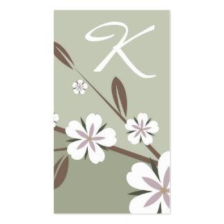 311-Blossom verde sutil de la belleza el | Tarjetas De Visita