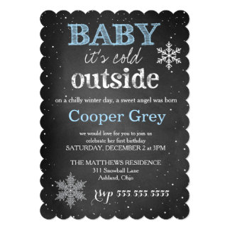311 Blue Baby It's Cold Outside Winter Birthday Card