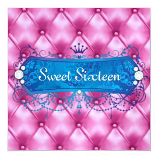 311 Blue Bliss Pink Tuft Card