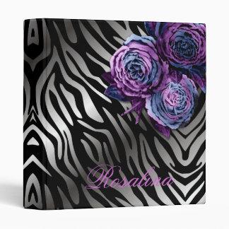 311-Blue Flame | Rose Zebra Binder