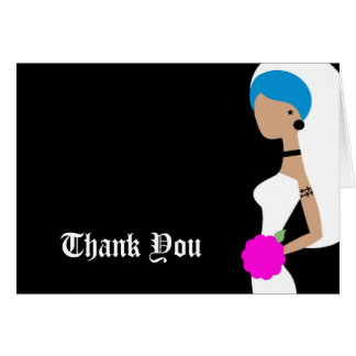 311 Blue Punk Bride Thank You Stationery Note Card