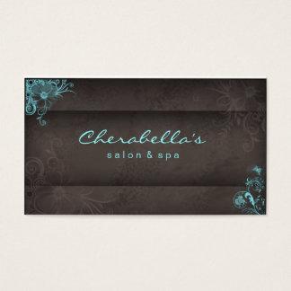 311 Blue Taupe Salon Spa Floral business card