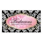 311 Bodacious Boutique Black Business Cards