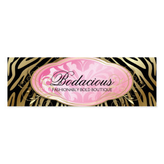 311 Bodacious Boutique Black Hang Tag Double-Sided Mini Business Cards (Pack Of 20)
