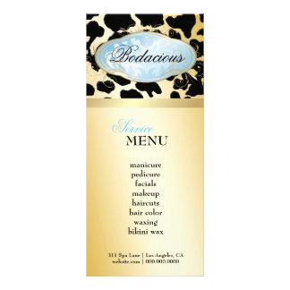 311 Bodacious Boutique Blue Leopard Loyalty Card Rack Card Template