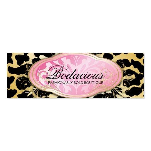 311 Bodacious Boutique Golden Leopard Hang Tag Business Card