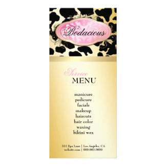 311 Bodacious Boutique Golden Leopard Loyalty Card Personalized Rack Card