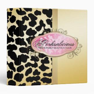 311 Bodacious Boutique Golden Leopard Spots Binder
