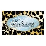 311 Bodacious Boutique Golden Leopard Spots Business Cards
